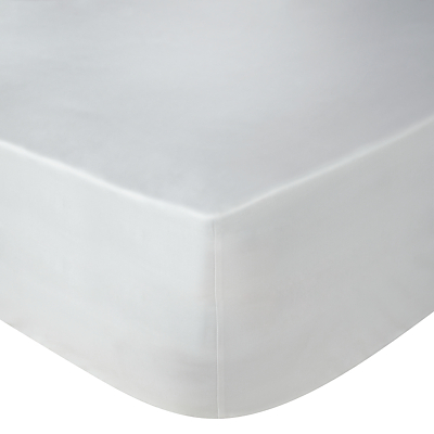 John Lewis Exquisite Genuisa Cotton Fitted Sheets, White