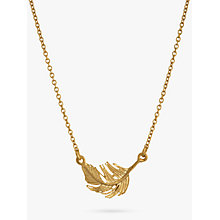 Buy Alex Monroe Little Feather Necklace, Gold Online at johnlewis.com