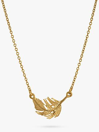 Alex Monroe Little Feather Necklace, Gold