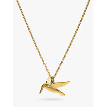 Buy Alex Monroe Hummingbird Pendant Necklace, Gold Online at johnlewis.com