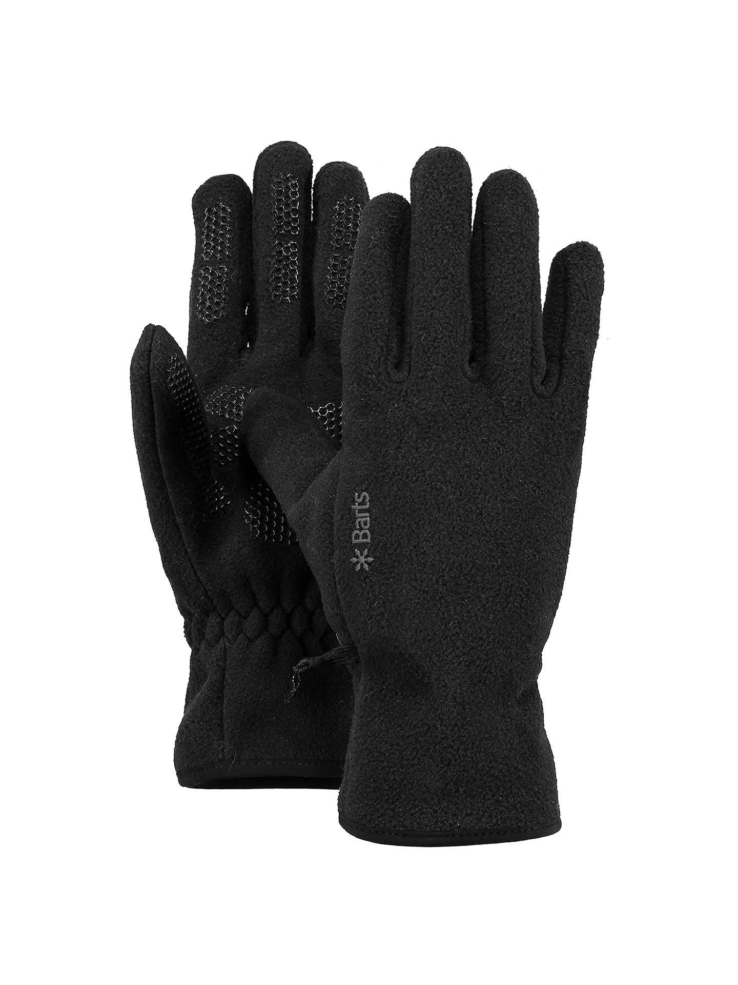 6405345a341 Barts Fleece Gloves, Black at John Lewis & Partners