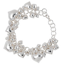 Buy Martick Silver Heart Charm Bracelet Online at johnlewis.com