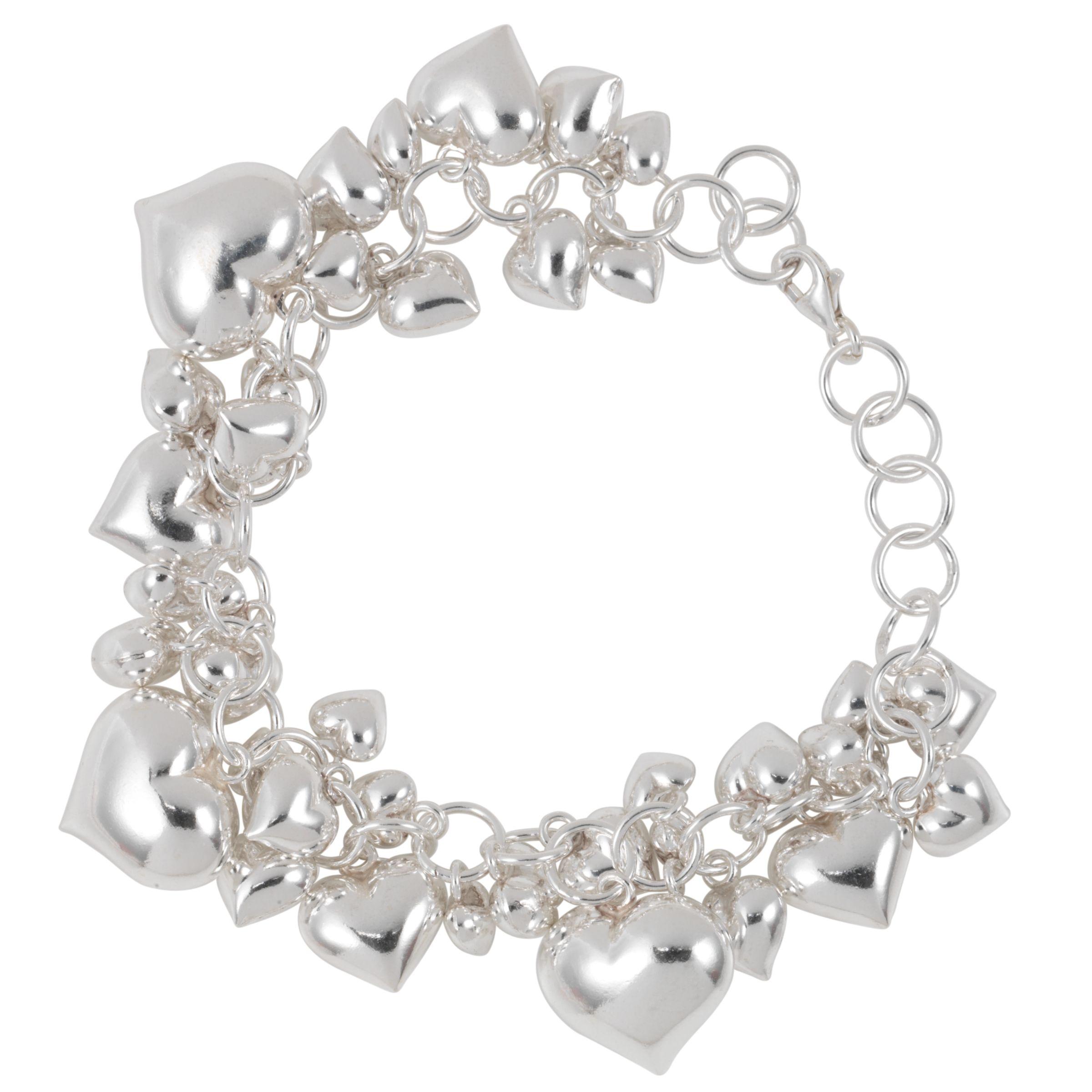 Martick Silver Heart Charm Bracelet Bluewater