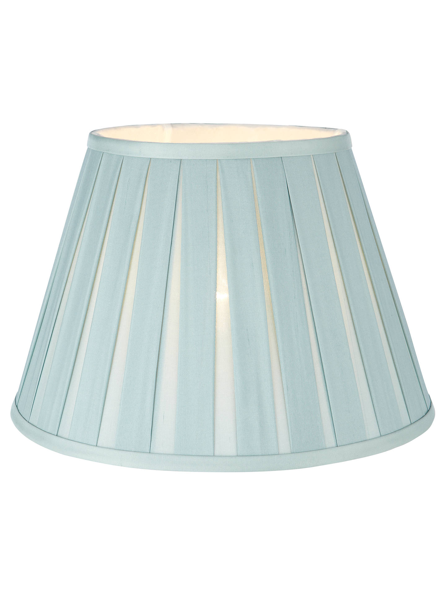 Buy John Lewis & Partners Oratorio Silk Tapered Lampshade, Duck Egg, Dia. 25cm Online at johnlewis.com