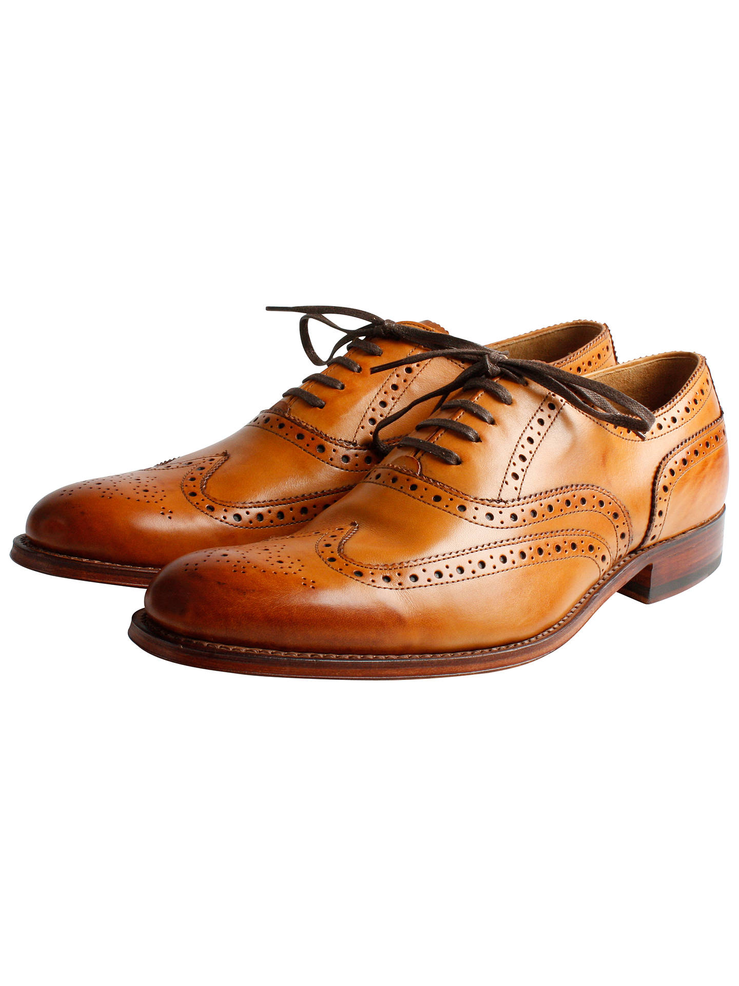 84fca39d0d5791 Grenson Dylan Leather Brogue Goodyear Welt Shoes at John Lewis ...