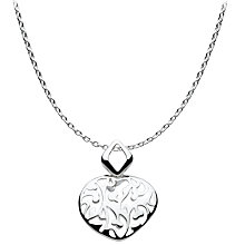 Buy Kit Heath Open Floret Pendant Necklace, Silver Online at johnlewis.com