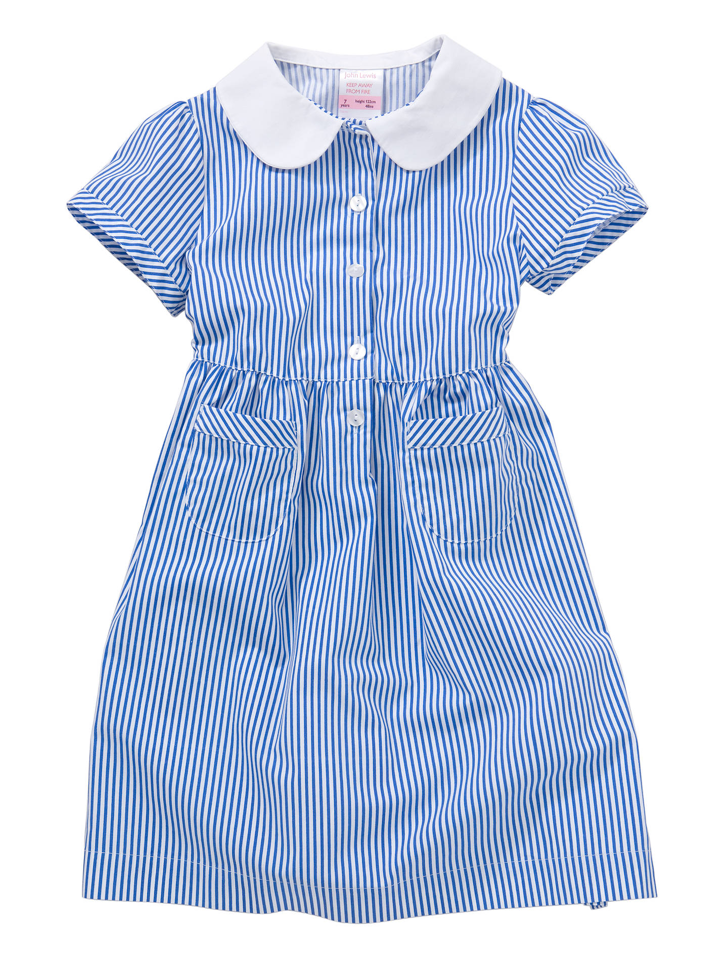 199f5a0d5b785 Buy John Lewis School Striped Summer Dress, Blue, 5 years Online at  johnlewis.