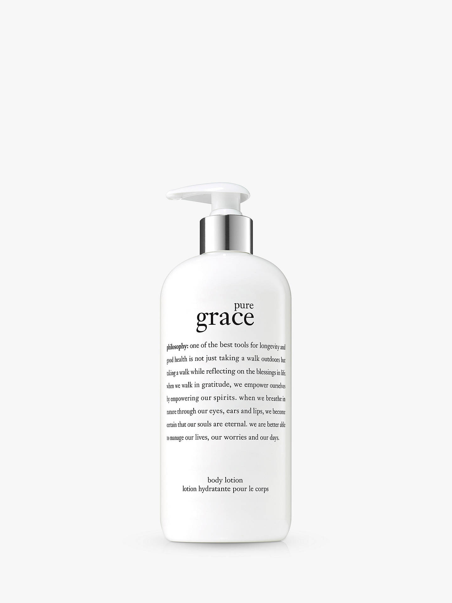 Buy Philosophy Pure Grace Body Lotion 480ml Online At Johnlewis
