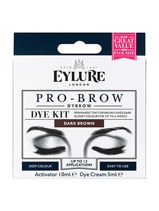 Buy Eylure Pro-Brow 6 Weeks Brow Dye Kit, Dark Brown Online at johnlewis.com
