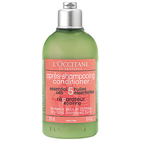 Buy L'Occitane Repairing Conditioner for Dry & Damaged Hair, 250ml Online at johnlewis.com