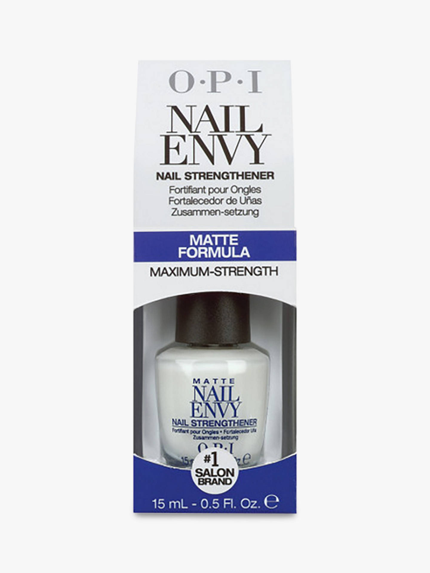 OPI Matte Nail Envy Strengthener, 15ml at John Lewis & Partners