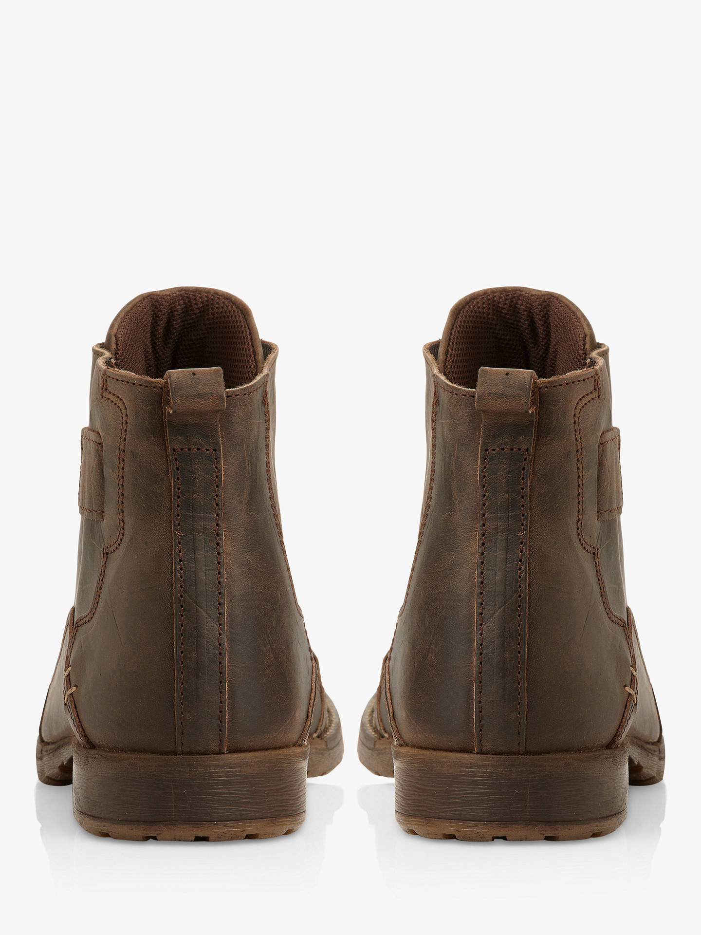 BuyDune Simon Leather Boots, Dark brown, 6 Online at johnlewis.com