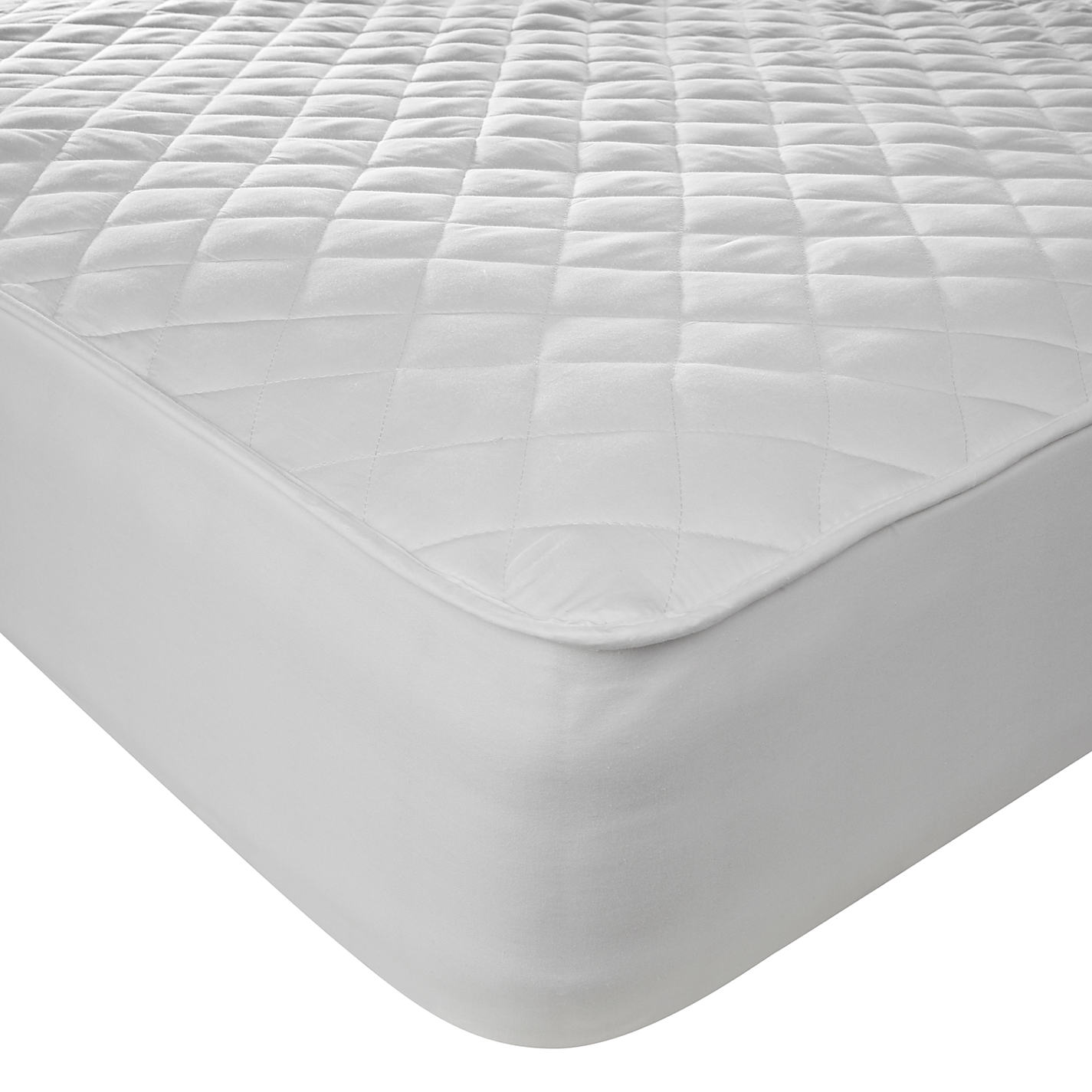 John Lewis Active Anti Allergy Quilted Mattress Protector Online At Johnlewis