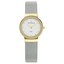 Buy Skagen 358SGSCD Women's Stainless Steel Mesh Bracelet Strap Watch, Silver Online at johnlewis.com