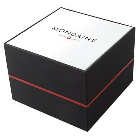 Buy Mondaine A6383035016SBM Unisex Simply Elegant Mesh Bracelet Strap Watch, Silver/White Online at johnlewis.com