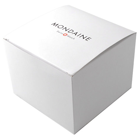 Buy Mondaine A6693030816SBB Unisex Sport Line Leather Strap Watch, Black/White Online at johnlewis.com