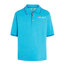 Buy Beavers Short Sleeve Polo Shirt, Turquoise Online at johnlewis.com