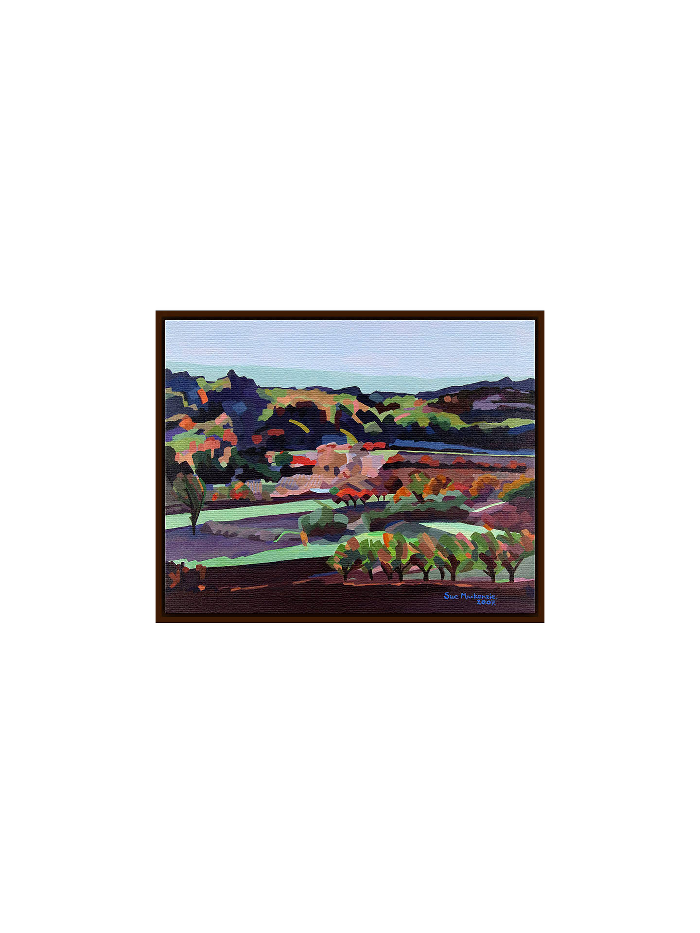 BuySue Mackenzie - Provence Countryside, Dark Brown Framed Canvas, 60 x 80cm Online at johnlewis.com