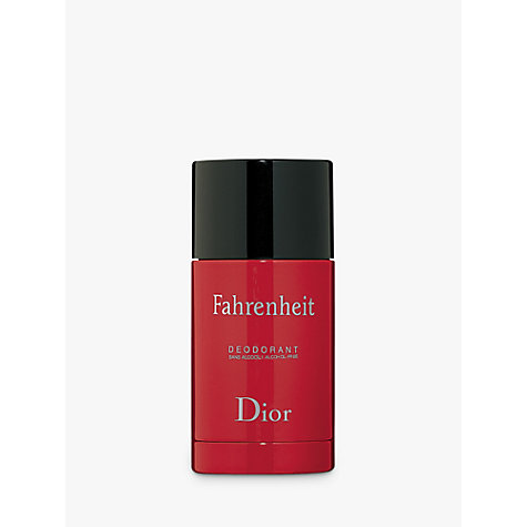 Buy Dior Fahrenheit Alcohol Free Deodorant Stick, 75ml Online at johnlewis.com