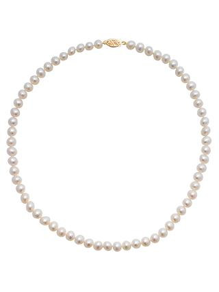 A B Davis Freshwater Cultured Pearl Necklace, White