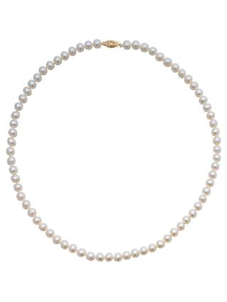 A B Davis Freshwater Pearl Necklace, White