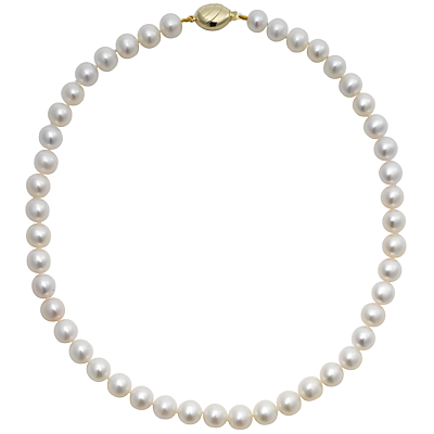 Product photo of A b davis lustre freshwater cultured pearl necklace white