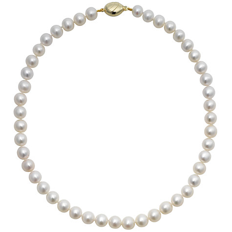 Buy A B Davis Lustre Freshwater Cultured Pearl Necklace, White Online at johnlewis.com