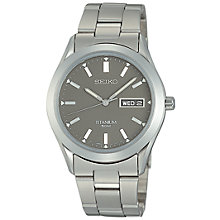 Buy Seiko SGG599P1 Men's Analogue Titanium Bracelet Strap Watch, Silver/Grey Online at johnlewis.com