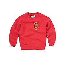 Buy Holy Family School Unisex Sweatshirt, Red Online at johnlewis.com