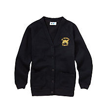 Buy St. Mark's CE Primary School Girls' Cardigan, Black Online at johnlewis.com