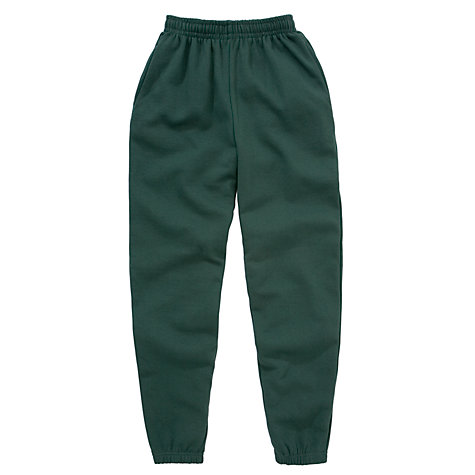 Buy School Unisex Jogging Bottoms, Bottle green Online at johnlewis.com