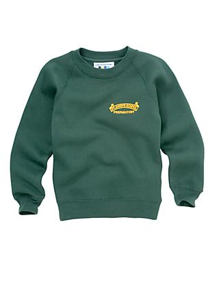 St John's Preparatory School Unisex Sweatshirt, Bottle Green