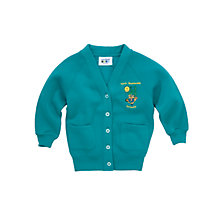 Buy North Baddesley Infant School Girls' Cardigan, Green Online at johnlewis.com