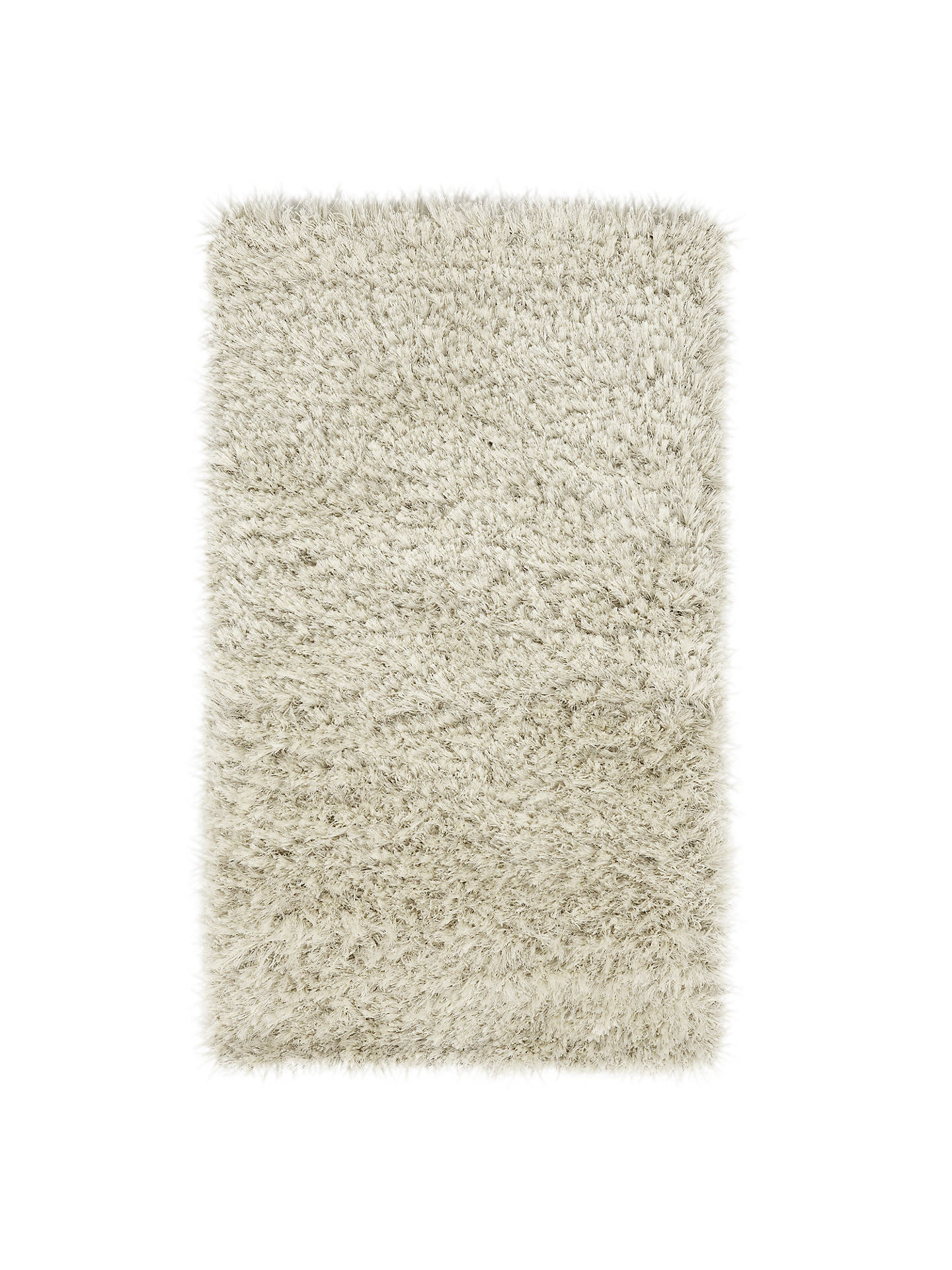 John Lewis Partners Rhapsody Shaggy Rug Ivory L290 X W200cm Online At Johnlewis