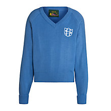 Buy Sherborne House School Unisex Nursery-Year 6 V-Neck Jumper, Blue Online at johnlewis.com