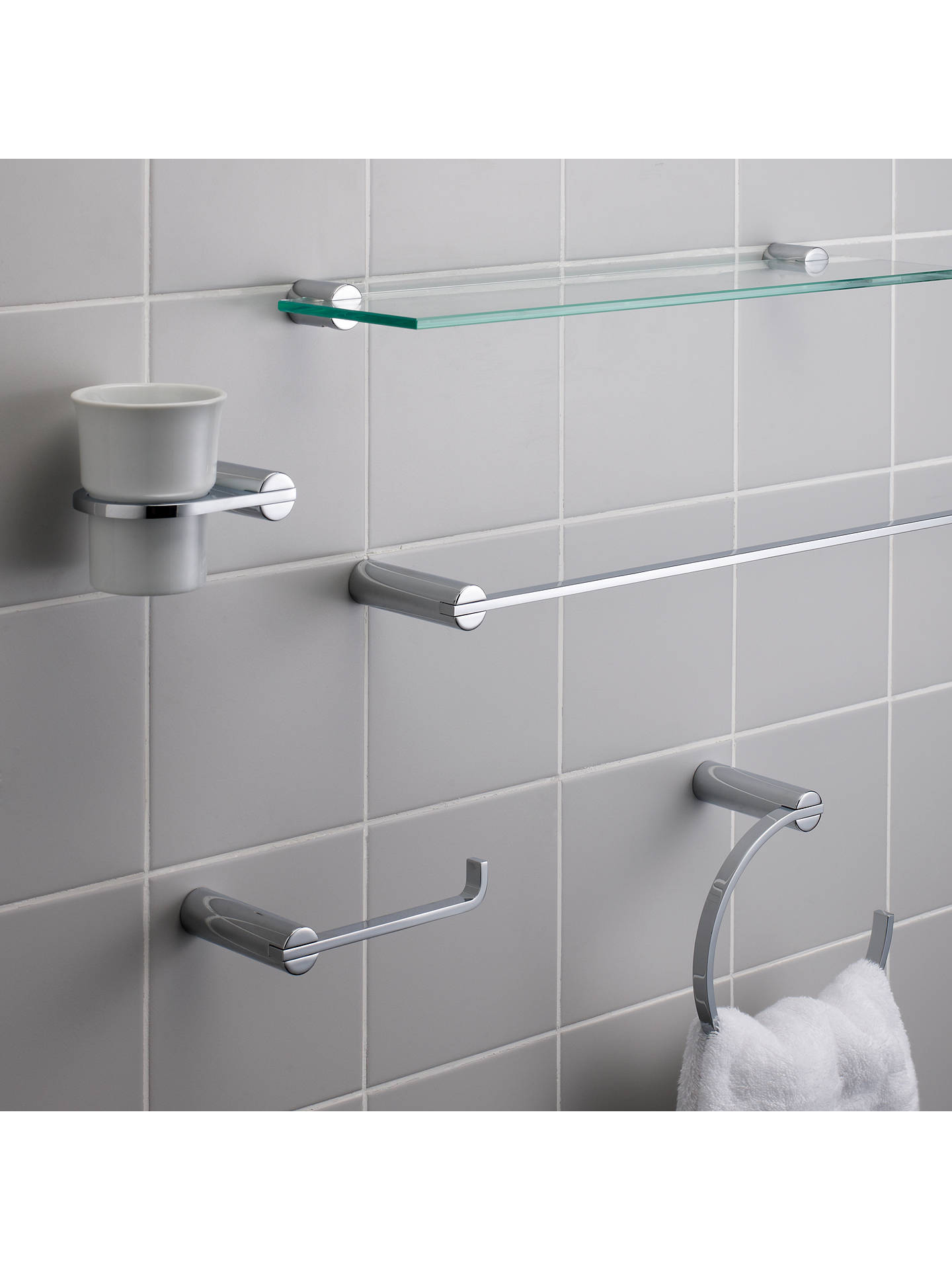 BuyJohn Lewis & Partners Solo Toilet Roll Holder, Chrome Online at johnlewis.com