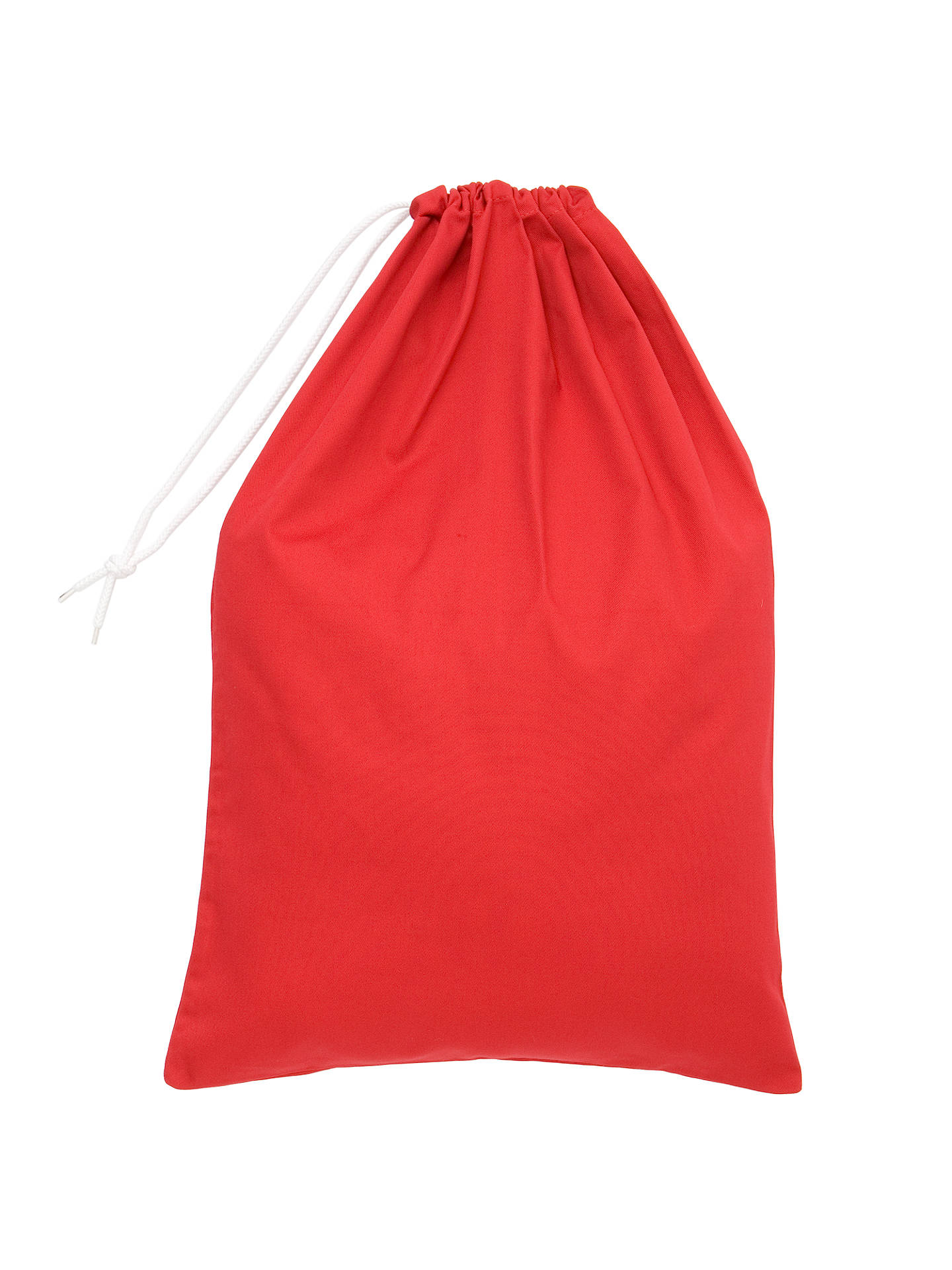 School Drawstring Linen Bag Red One Size Online At Johnlewis
