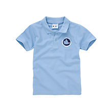 Buy Our Lady Catholic Primary School Logo Polo Shirt, Pale Blue Online at johnlewis.com