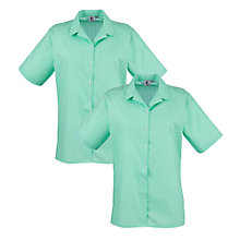 Buy Regents Park Community College Girls' Blouse, Pack of 2, Green Online at johnlewis.com