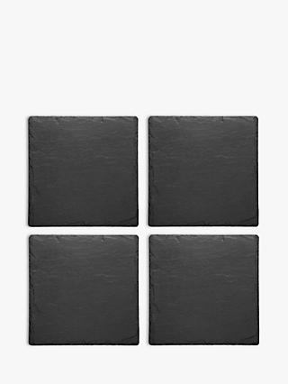 The Just Slate Company Coasters, Set of 4, Black