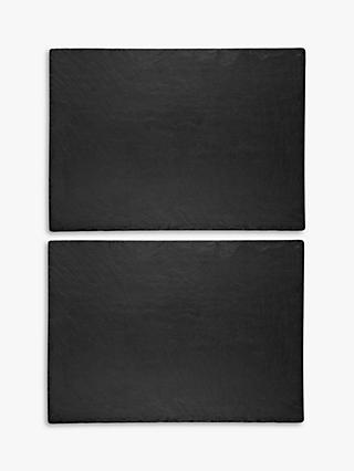 The Just Slate Company Trivets, Set of 2, Black