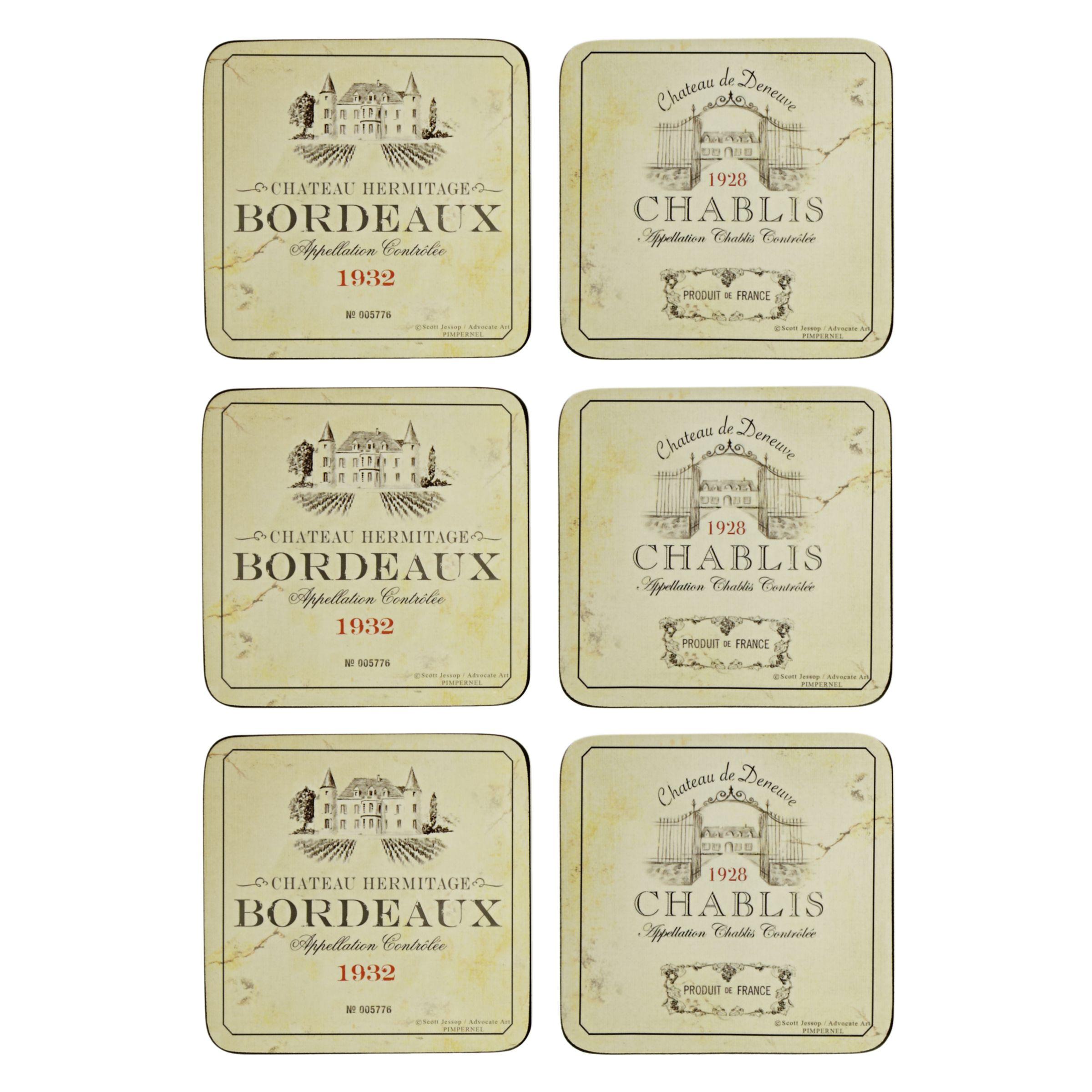 Box of 6 Pimpernel Vin de France Coasters