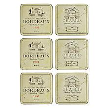 Buy Pimpernel Vin de France Coasters, Box of 6 Online at johnlewis.com