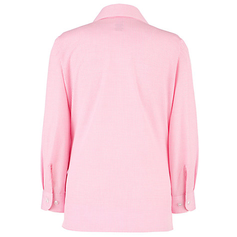 Buy School Girls' Button Neck Shirt, Pack of 2, Pink/White Online at johnlewis.com