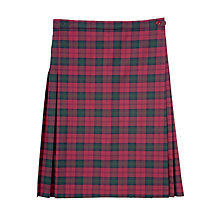 Buy Leehurst Swan School Girls' Years 7-11 Summer Tartan Skirt Online at johnlewis.com