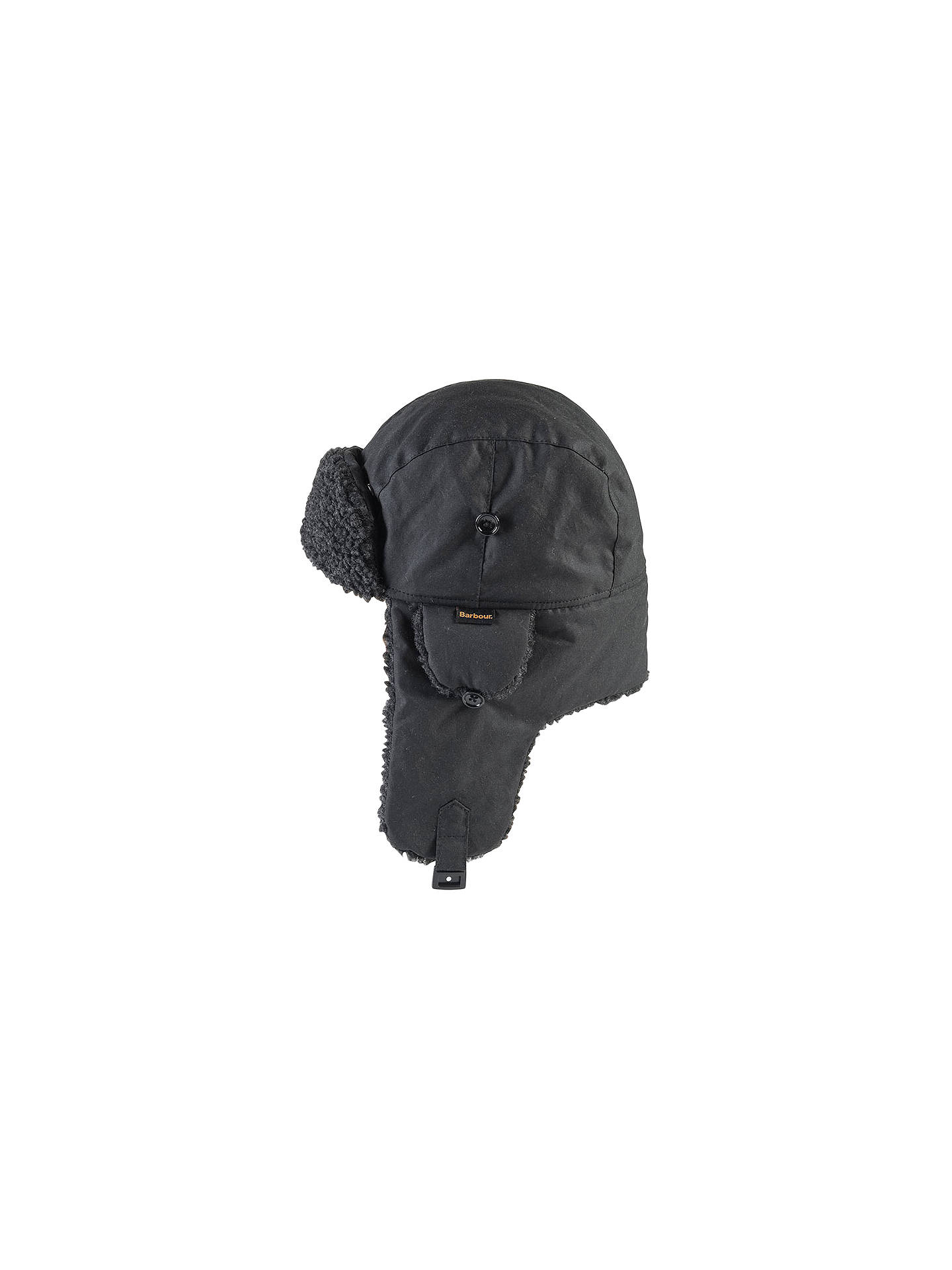 cd354a0dd75a2 Buy Barbour Fleece Lined Tapper Hat, Black, M Online at johnlewis.com ...