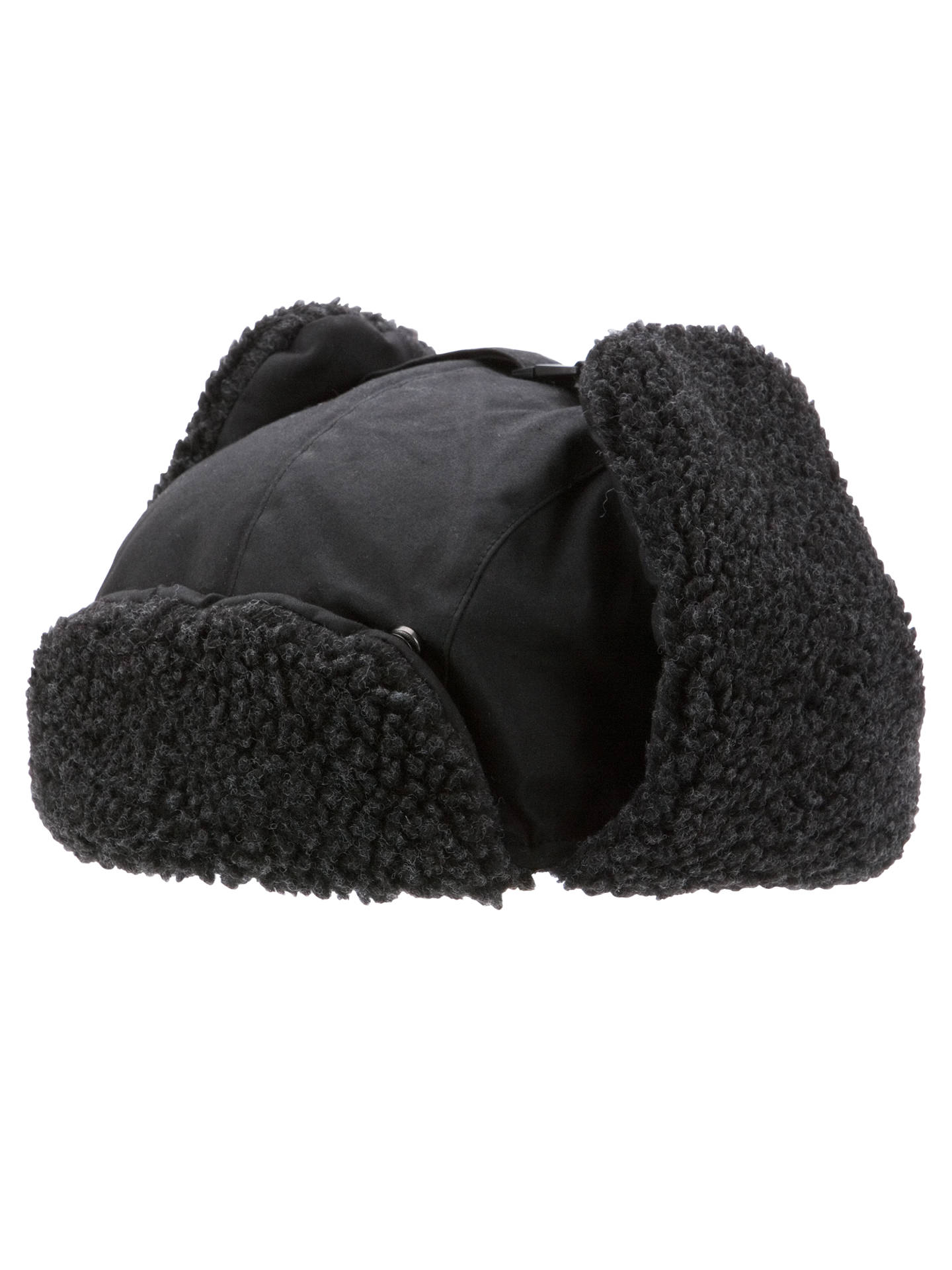 89fe0a979bf6d ... Buy Barbour Fleece Lined Tapper Hat, Black, M Online at johnlewis.com