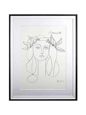 Buy Picasso 'Head, 1946' Framed Print, 94 x 74cm Online at johnlewis.com