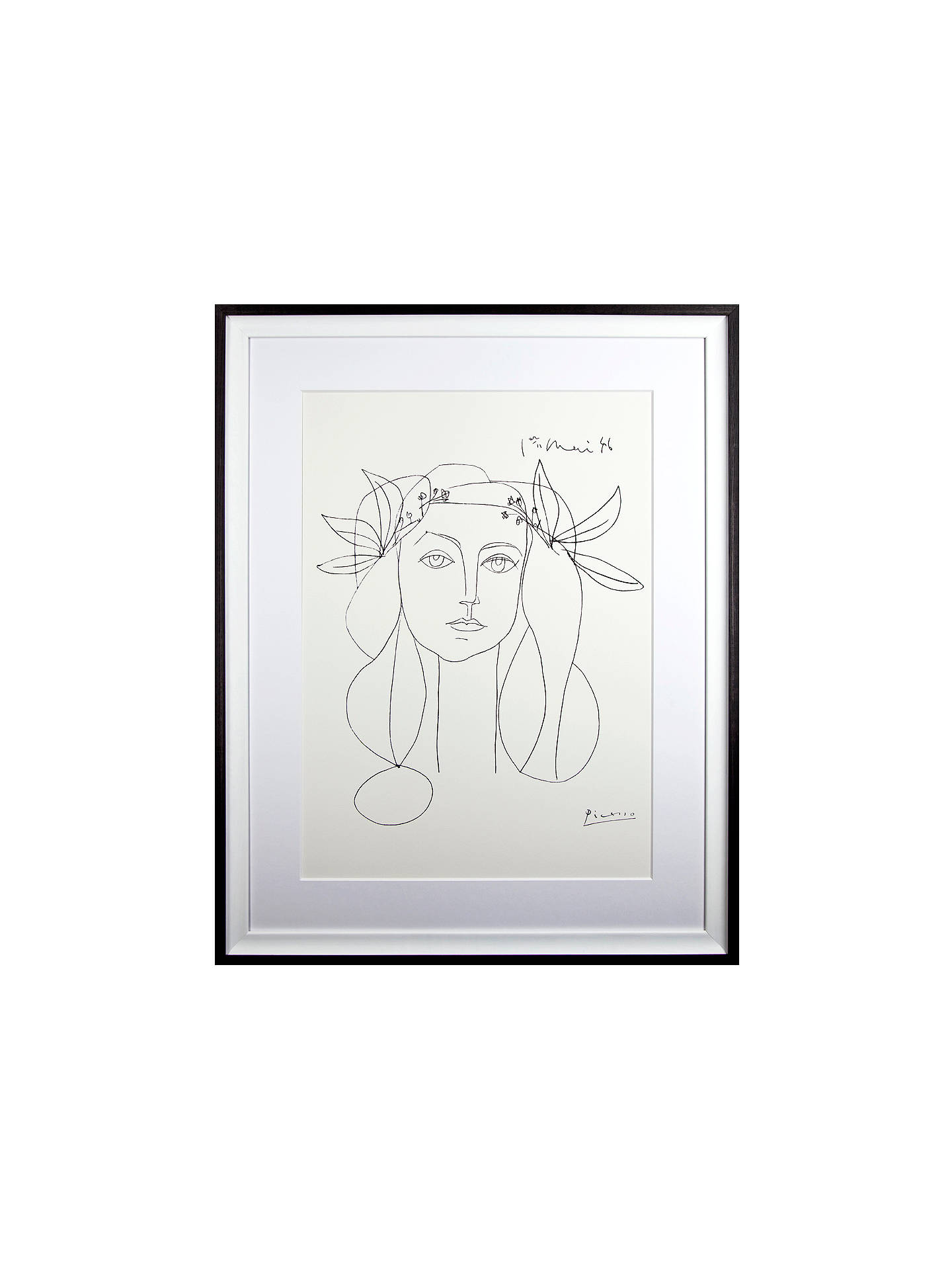 BuyPicasso 'Head, 1946' Framed Print, 94 x 74cm Online at johnlewis.com