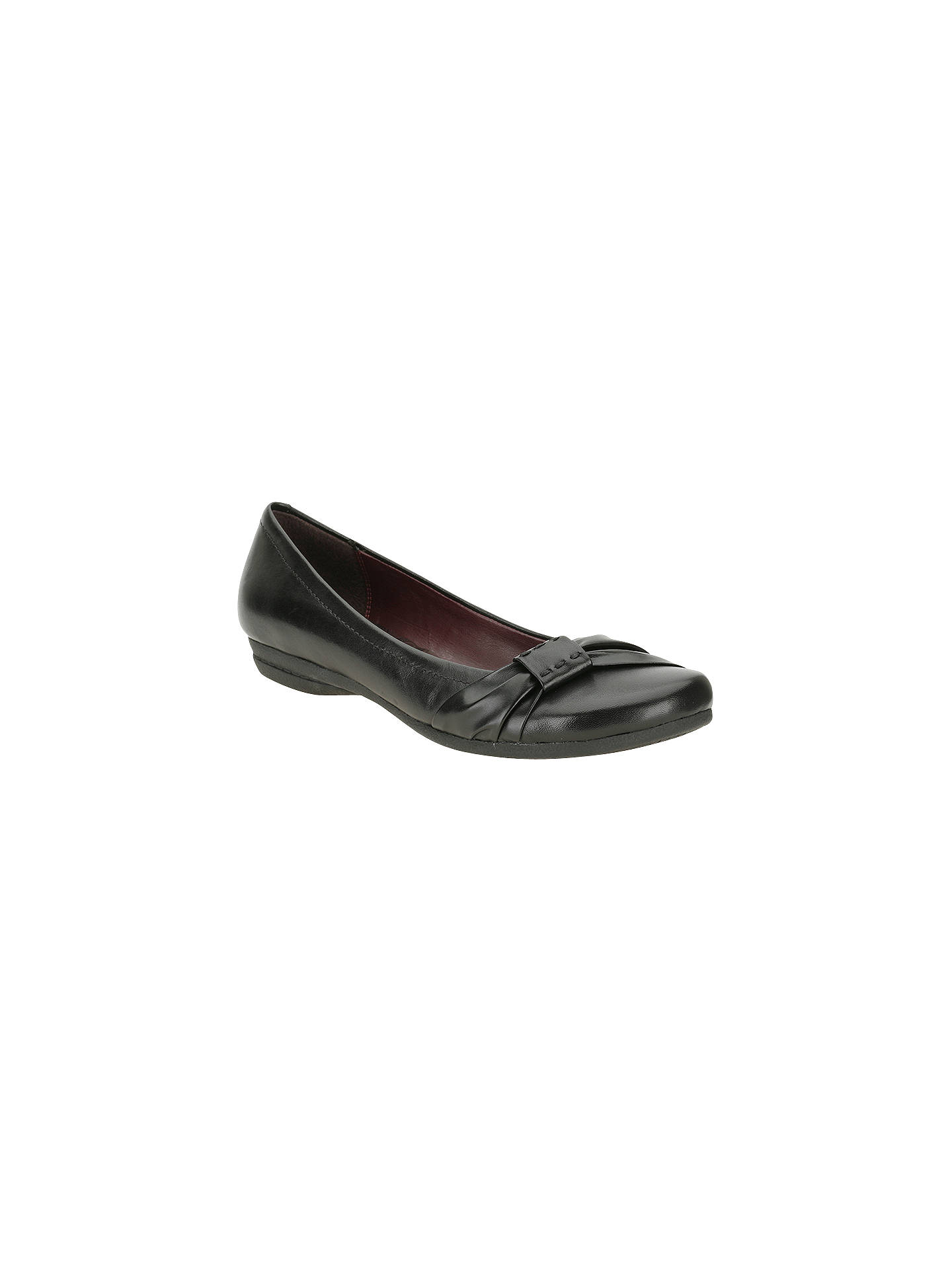 f9cdf8177 Clarks Discovery Bay Pleat Front Leather Ballerinas at John Lewis ...